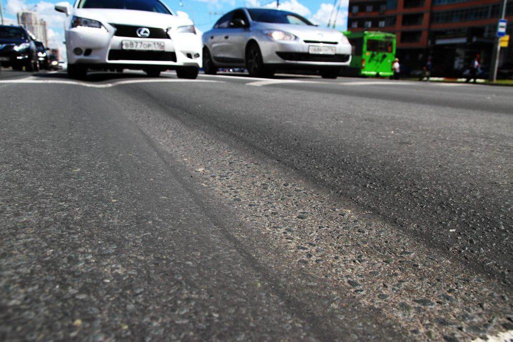 Проблема образования колеи на дороге