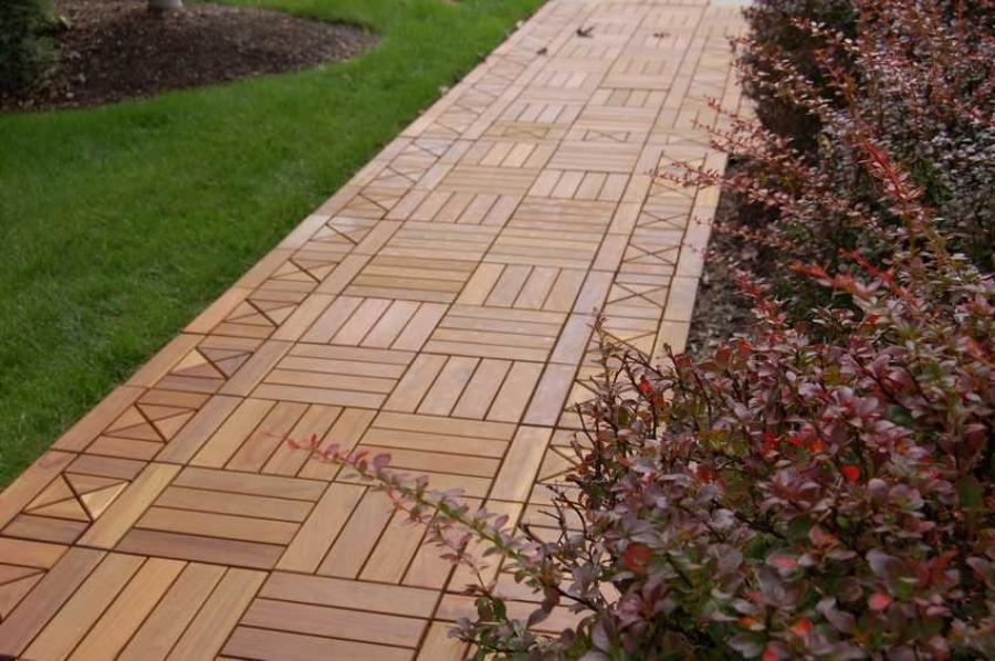 Дорожки из деревянного бруса