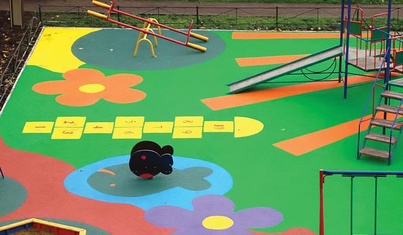 Покрытие детской площадки из резиновой крошки