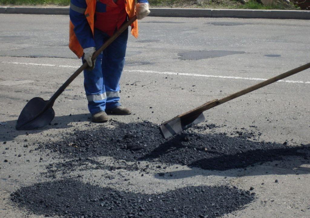Ямочный ремонт асфальтированных дорог