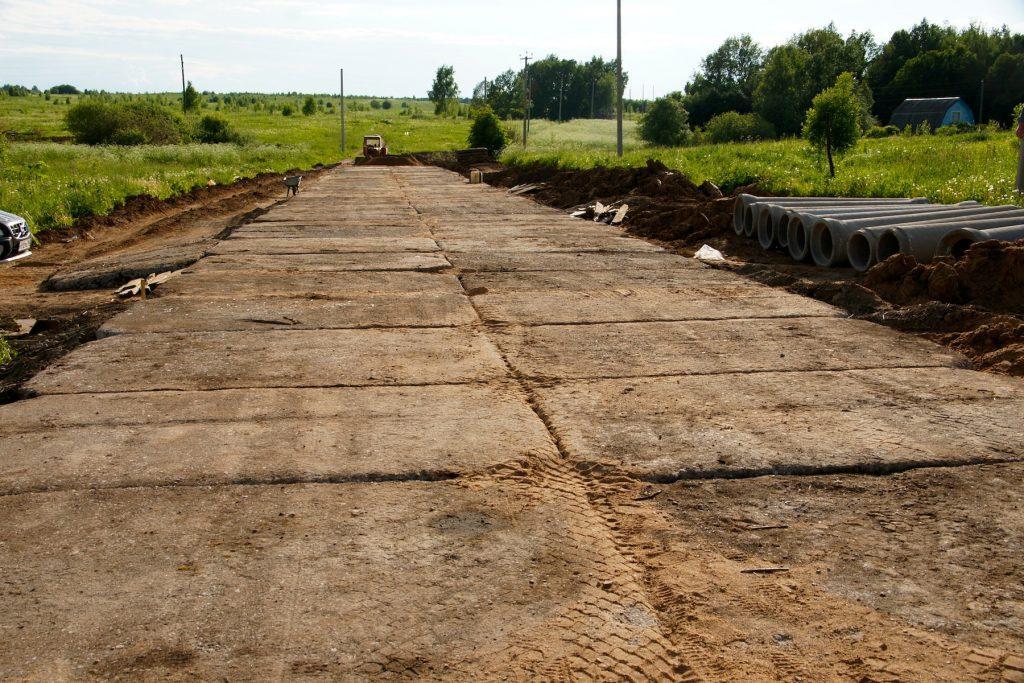 подготовка основания при строительстве дорог