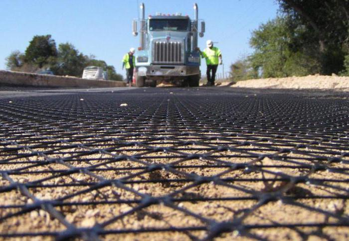 использование геосетки для дорог